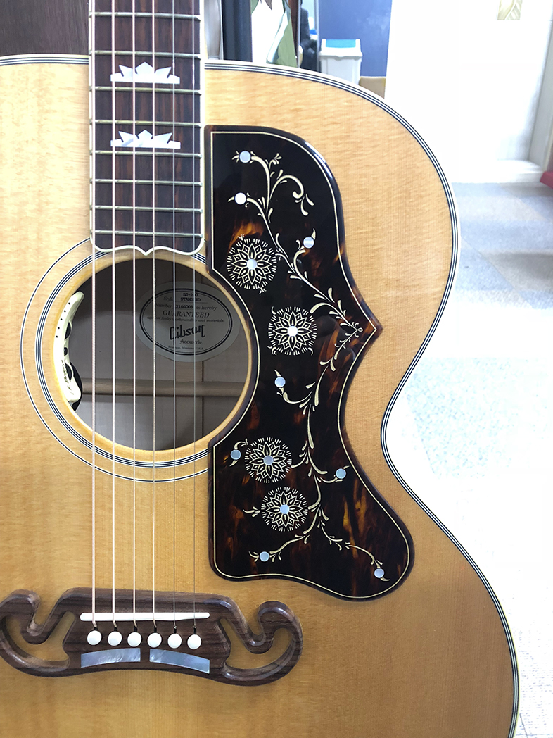 Hi. I received the gibson sj 200 pickguard today. Everything is perfect itself. It will be more fun to play the guitar in the future. Later, when I buy hummingbird, I want to buy custom pickguard again. I'm so happy. Thank you.  J. H. Lee - South Korea